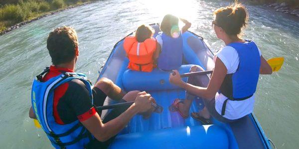 Schlauchbootfahren Drau