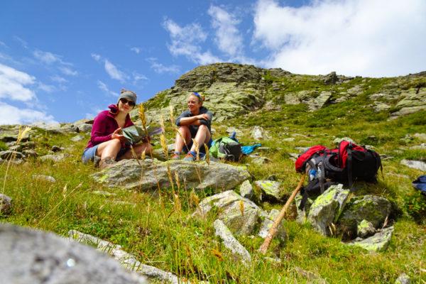 10 Eine wohlverdiente Pause Kreuzeck Höhenweg Schütt